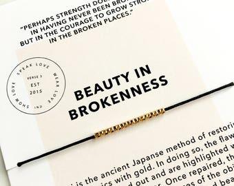 18k Gold Filled Tube Bracelet/ Encouragement Gift/ Layering Bracelet/ Friendship Bracelet