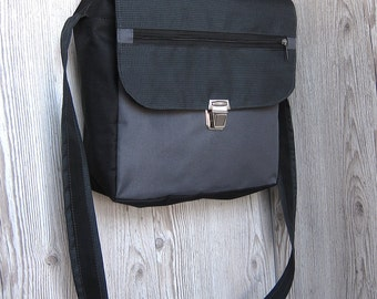 Charcoal grey messenger bag Men Women laptop bag Satchel Crossbody bag Shoulder bag