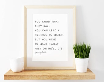 GOLDEN GIRLS-Rose Nylund-Golden Girls Print-Quotes-Typography-PRINTABLE-Motivational-Inspirational-Black and White-Modern-Simple-8x10