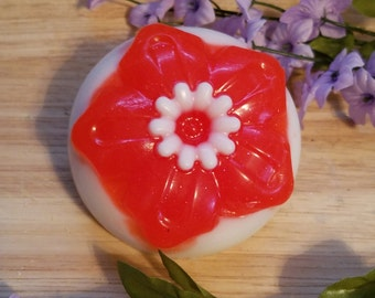 Flower soaps, spring soap, bright soaps