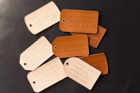 Leather Luggage Tag Personalized Leather Luggage Tag Leather