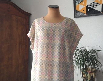 Vintage oversized tunic blouse
