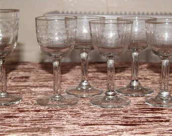 Vintage wine glasses etsy Unusual drinking glasses uk