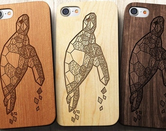Geometric Sea Turtle iPhone 8 case The best iPhone X, 8, 8 Plus, 7,SE,5/5s,6s/6 Plus and 7 Plus Case, Unicorn Gifts | Sea Turtle iPhone case