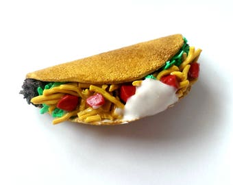 Large Taco Magnet Food Magnets Cute Fridge magnets Food Jewelry Funny Office Decor Taco Truck
