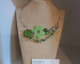 Lime flower necklace