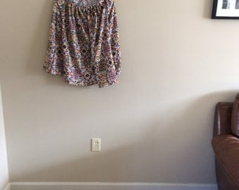 Womans rayon peasant style top tunic shirt blouse - Cool fabric!