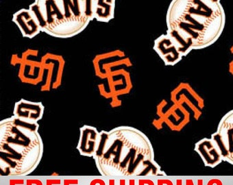 "San Francisco Giants MLB Fleece Fabric. 60"" Wide. Free Shipping Style# MLB SANF-6534"
