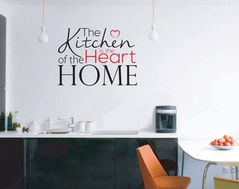 The Kitchen is the Heart of the Home - 2 colour wall art graphic