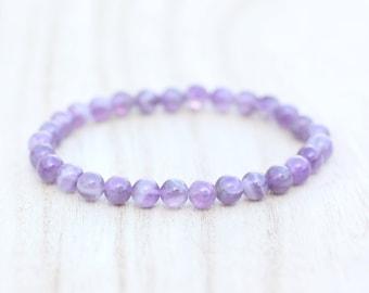 AMETHYST BRACELET. Anxiety Relief. Meditation bracelet. Psychic Attack. Third Eye Bracelet. Calming Bracelet. Purple Quartz Bracelet.