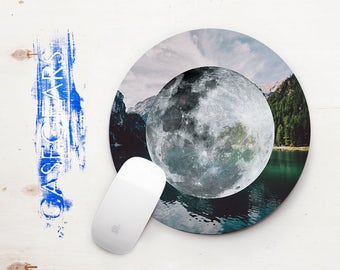 Moon Mouse pad Round Mountains MousePad Mouse Pad Accessories Nature Desk Home Office Tumblr Modern Office Mousepad Home Decor CGMP0013