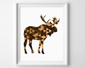 Woodland Wall Decor moose wall art | etsy