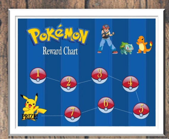 Pokemon Reward Chart Template Images on Free Printable Rewards Charts