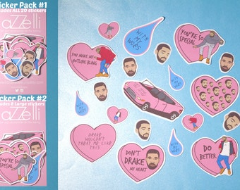 I Love Drake Sticker Pack | 1 800 Hotline Bling | Drake Stickers | Celebrity Stickers |Tumblr Stickers | Cute Stickers