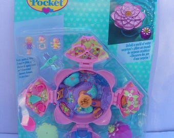 Vintage New Polly Pocket Fountain Fantasy , 1996 Bluebird Toys Mattel Polly Pocket #16856 Never Removed From Package , Unopened Polly NRFB
