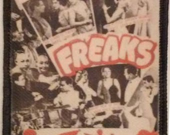 FREAKS - collage PATCH Cult HORROR movie- Tod Browning, sideshow, circus, oddities