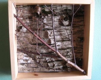 Dramatic birch wall art