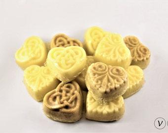 Vegan Fairy Heart Lotion Bars (Set of 12) - Natural Lotion Bar, Body Butter, Solid Lotion Bar, Hand Lotion, Cocoa Lotion Bar, Variety Pack