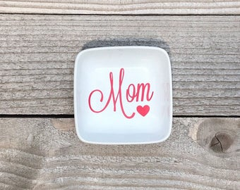 Jewelry Dish, Ring Dish, Personalized Gifts, Gifts for Mom, Mother's Day, Mother of the Bride, Mother In Law Gifts, Thank you Gifts