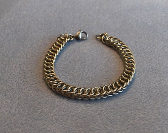 18 Gauge Stainless Steel Half Persian 4 in 1 Chain Maille Bracelet