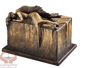 Unique Artistic Urn Angel at Rest Cremation Urn Funeral Urn For Adult (Art12B)