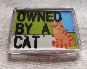 Owned by a cat- fridge magnet.