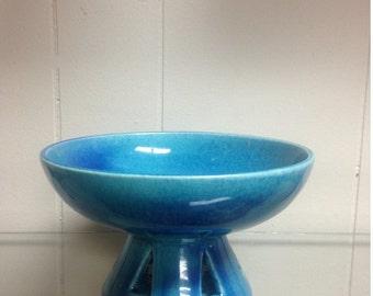 Vintage Mid Century Blue Royal Haeger 707 Candy Dish