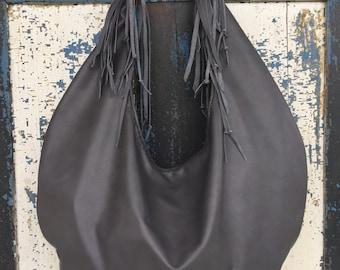 Hobo Purse Slouchy Leather Hobo Bag Handbag Made to Order