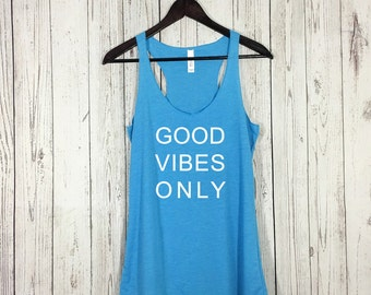 Good Vibes Only Tank, Good Vibes Tee, Good Vibes Only, Workout Tank, Workout Shirt, Yoga Shirt, Workout Clothes, Tank Top, Fitness Tank, Gym