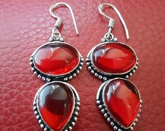 Red Chalcedony Earrings!