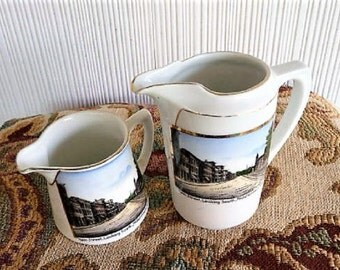 Middletown Connecticut   ***   Two Old Souvenir Pitchers , Made in Germany by William Greaves
