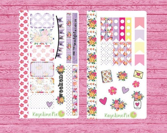 Floral Romance Sticker Kit for Personal Sized Planners
