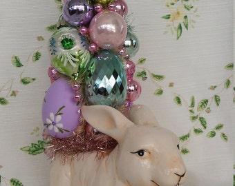 Easter Bunny Bottle Brush Tree Decoration
