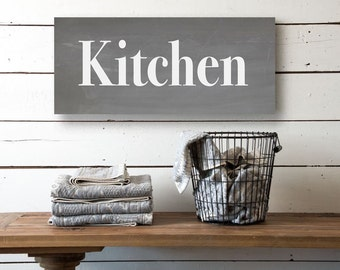Kitchen Canvas Sign Personalized Kitchen Sign Vintage Style Canvas Sign Canvas Wall Decor