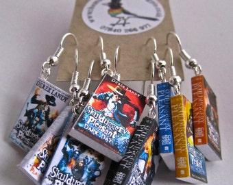 "Skuldugery Pleasant Books Earrings from ""The Earring Library"""