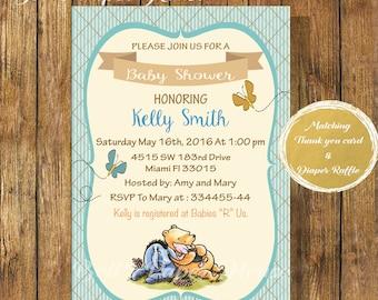 Winnie The Pooh Baby Shower Invitations | Etsy