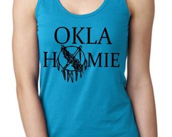 Oklahoma Tank Top - Oklahomie - Osage Shield Shirt - Okie Tank - Racerback Tank Top - Trendy Summer Tank - Funny Oklahoma Tank