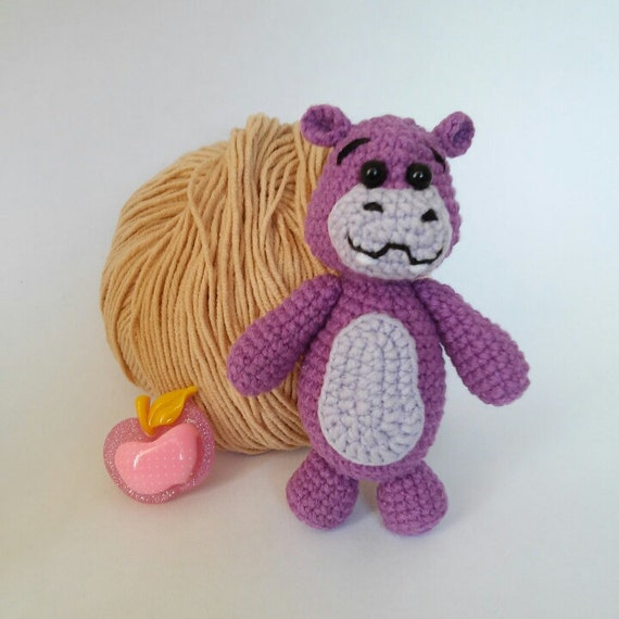Amigurumi Zoo Animals : Crochet hippo doll zoo amigurumi toy by