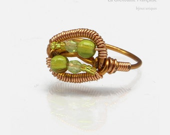 "Wire weaving // ""Egyptian"" // ring // customizable"