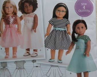 """Simplicity Pattern ~ 18"""" American Girl Doll Clothes ~ 8039"""