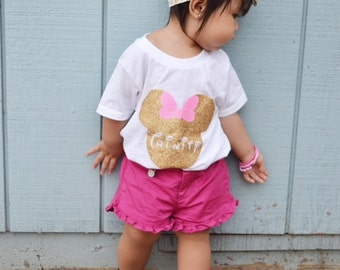Mickey/Minnie Personalized onesie, t-shirt or tank top
