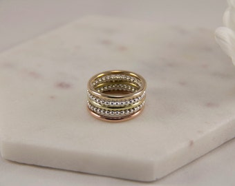 Stacking Rings. Rings. Silver Stacking Ring. Gold Stacking Ring. Copper Stacking Ring. Gift For Her. Great Birthday Gift. Statement Jewelry.