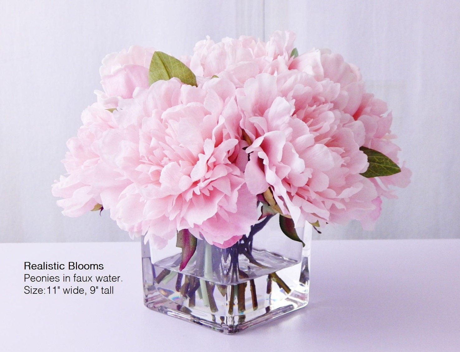 Light pinkblush silk peonypeonies glass vase faux water gallery photo gallery photo gallery photo gallery photo reviewsmspy