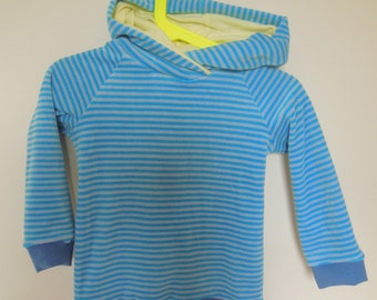 Kids Hoodie 2-3 years very cosy and warm striped velour Nikki