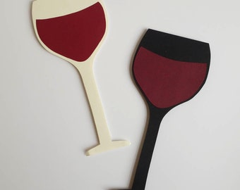 Two Wine Glasses / Wine Prop / Photobooth / Bachelorette Party Props /  Wedding Props / Photo Booth Props / Cheers