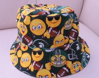 Michigan State Emoji Reversible Bucket Hat