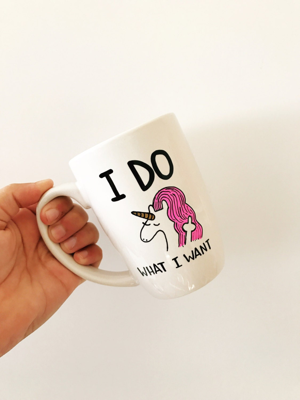 unicorn mug funny mugs funny coffee mugs unicorn cup i do. Black Bedroom Furniture Sets. Home Design Ideas