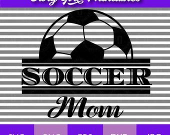 Soccer Mom SVG Cutting File eps, dxf, png, jpg Format