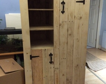 Pantry made with reclaimed timber