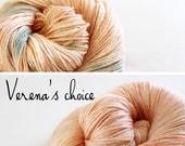 Bumblebee Shawl Kit Preorder- Verena's Choice, Garden Rose and Peach Fizz